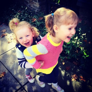 Park fun: Coco & Clara