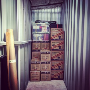 November - putting stuff in storage