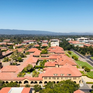 Photo by me: Stanford University and the blue skies of Palo Alto