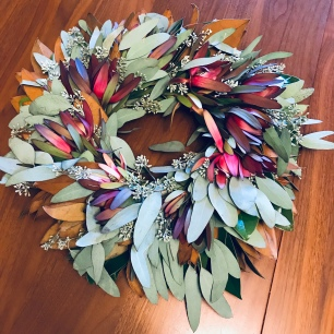 The lovely eucalyptus wreath